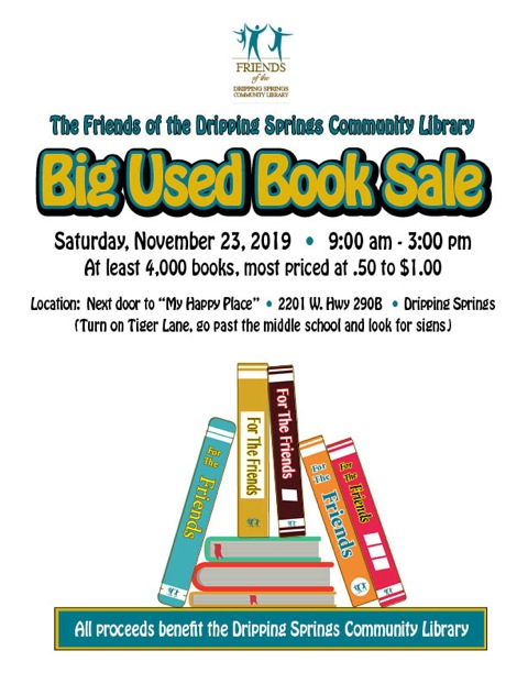 Friends of Dripping Springs Library Big Used Book Sale